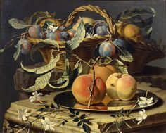 View Peaches and plums in a wicker basket, peaches on a silver dish and narcissi on stone plinths by Christian Berentz on artnet. Browse upcoming and past auction lots by Christian Berentz. Christian Paintings, Maximilian, Cool Posters, Botanical Illustration, Prints For Sale, Wicker Baskets, Still Life, Framed Artwork, Fine Art America