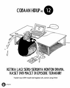 Komik Biebo: Cobaan Hidup by Komik Biebo Cartoon Jokes, Quotes Indonesia, San Andreas, People Quotes, Slogan, Language, Notes, Lol, Education