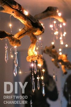28 Dreamy DIY Lighting Projects You'll Adore DIY Lighting Ideas and Cool DIY Light Projects for the Home. Chandeliers, lamps, awesome pendants and creative hanging fixtures, complete with tutorials with instructions & DIY Driftwood Chandelier &