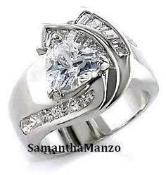 diamond trillion cut ring
