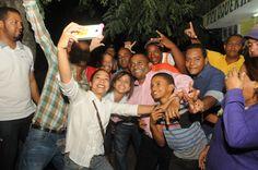 PLD y candidatos celebran René Polanco celebró en grande el Día del Amor y la Amistad en 7 puntos de SDN