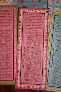 Book Of Mormon Reading Chart Bookmark