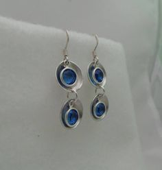 Double Dangle Birthstone Charm Earrings- You choose the month/ color