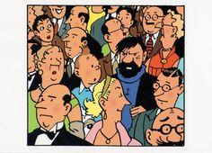 Tintin and Captain Haddock at the Opera