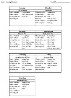 How to Create a Weekly House Cleaning Schedule