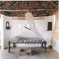 On the island of Lamu as seen in The Bedroom from Abbeville Publishing Group, 1995.