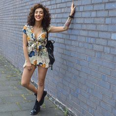Get this look: http://lb.nu/look/7531300  More looks by Sara-Joleen Kaveh Moghaddam: http://lb.nu/user/4020166-Sara-Joleen-K  Items in this look:  Dr. Martens Boots, Lookbookstore Romper