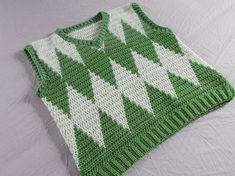 Crochet Vest Pattern, Knit Cardigan Pattern, Free Pattern, Crochet Patterns, Cute Crochet, Crochet Crafts, Crochet Projects, Crochet Bags, Diy Projects