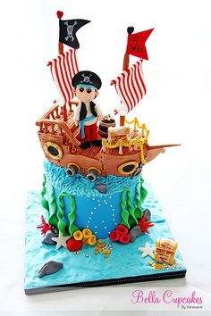 The Pirate Cake. I wanna try to make a cake like this!