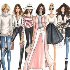Fondo fashion on We Heart It Fashion Art, Girl Fashion, Womens Fashion, Fashion Tips, Fashion Trends, Latest Fashion, Dress Fashion, Fashion Ideas, Illustration Mode