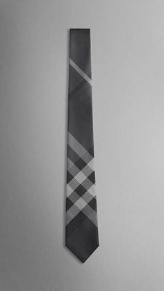 Burberry Black Beat Check Tie
