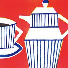 イラストレーター山内和朗のサイトです。 Abstract Shapes, Abstract Art, Food Illustrations, Illustration Art, Japanese Graphic Design, Branding, Coffee Art, Modern Wall Art, Screen Printing