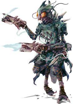 Starfinder - Unknown Artist - Shirren Outlaw Solarian