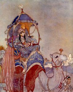 artist Edmund Dulac (Arabian Nights?)  #art #illustration