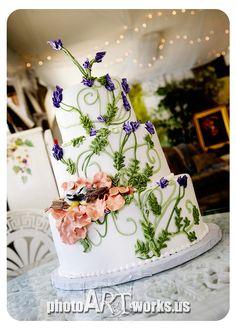 Wedding Cake for a snow white / rapunzel themed wedding