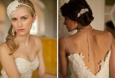 bridal hairpieces from Mariell