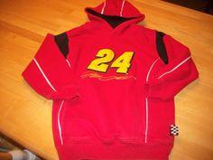 Nascar Jeff Gordon # 24 Hooded Sweatshirt Boys Girls Size 8 Small
