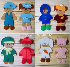 Felt paper doll inspired set with pouch to store outfits in by Ganni Quiet Books.