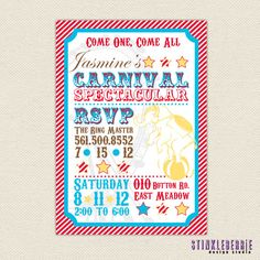 Carnival Childrens Party Invitation