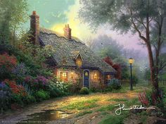 Thomas Kinkade - Moonlight Cottage  2001