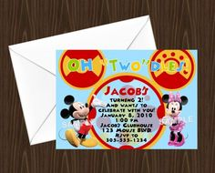 Oh Toodles Mickey Mouse Clubhouse Personalized Invitation - Digital File - You Print |