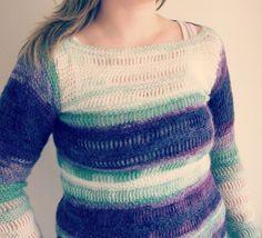 sweater crocheted sweater womens mohair sweater by CrochetByMel