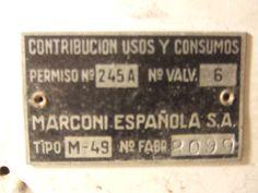 """Marconi M 49 """"Antique radio"""", """"Tube radio"""" Antique Radio, Tube, Antiques, Decor, Antiquities, Antique, Decoration, Decorating, Old Stuff"""