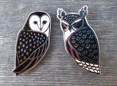 Owl Lapel Pin Set / Wormwood & Rue