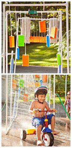 DIY Kids Car Wash and Sprinkler Tutorial from...