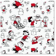 Peanuts® Black and White Christmas Wrapping Paper (My favorite Christmas/winter gift wrap)