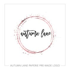 This listing is for a customizable pre-made Rose Gold Splatter Drip Circle Logo J42. Put your company's name on it today!