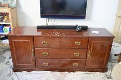 I feel like I'm always saying that my latest project is my favorite - but this time, I REALLY mean it! We bought this tired old bedroom bureau through the onlin…
