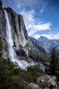 Upper Yosemite Fall and Half Dome Yosemite National Park [OC][3648  5472] http://ift.tt/2F7RZWl