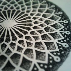 dotwork and mandala! Artist unknown.