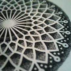 dotwork and mandala! Artist unknown.