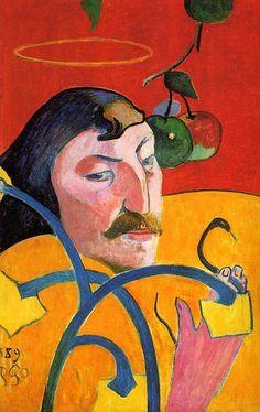 The Athenaeum - Caricature, Self Portrait (Paul Gauguin - )