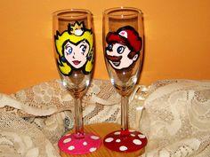 Mario and Princess Peach/ Retro Nintendo by AntonisArtAsylum, $34.99