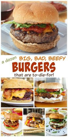 A Dozen Big, Bad, Beefy Burgers that are To-Die-For - Get ready for all of those. - A Dozen Big, Bad, Beefy Burgers that are To-Die-For – Get ready for all of those summer barbecues - Burger World, My Burger, Burger And Fries, Beef Burgers, Good Burger, Grilling Burgers, Veggie Burgers, Grilling Recipes, Beef Recipes