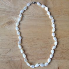 Mother of Pearl Necklace. Carved Leaves Mother of Pearl Jewellery