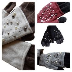 Impartial 1pair New Winter Female Warm Cashmere Suede Fabric Warm Touch Screen Gloves Women Touch Screen Driving Gloves Beautiful In Colour Back To Search Resultsapparel Accessories