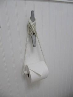 DIY Jewerly DIY Nautical Rope : DIY A Nautical Twist for a Toilet Roll Holder