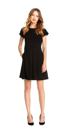 Ponte Dress from Joe Fresh. Show off your flare for fashion with a stretchy, comfy design crafted from one of our favourite fabrics.  Only $19.94.