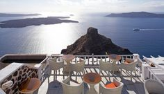 Iliovasilema Suites: There are plenty of spots on property to sit back with a drink and enjoy the view. Greece Travel, Greece Trip, Cape Town South Africa, Sit Back, Hotel S, Vacation Spots, Places To See, Santorini Greece, To Go