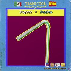 Para disfrutar una bebida o para usar como cerbatana… #HumorPanza #MexicanosesnEspaña