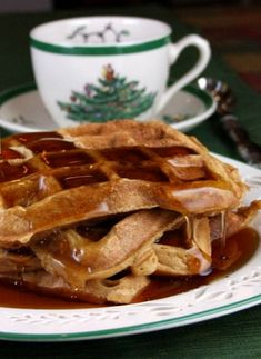 OMG!!! I need to make these!!!! Perfect for breakfast in bed. Gingerbread Waffles #breakfast #recipe