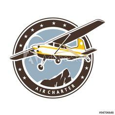 Aviation badge in retro style