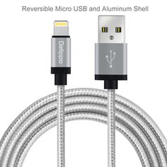 Delippo For iPhone Charger Cable MFI Lighting to USB Cable Syncing and Charging for iPhone 6S 6 Plus SE 5S 3.3ft/1m Silver #Affiliate