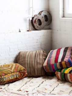 met grote zitkussens kan je veel doen?