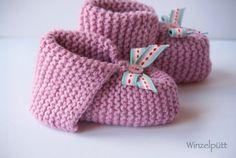 ♥ Baby-Schühchen Merino-Baumwolle ♥  von ♥ Winzelpütt auf DaWanda.com