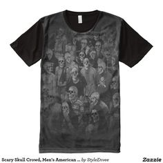Scary Skull Crowd, Men's American Apparel T-Shirt  The Scary Skull Crowd, Men's American Apparel T-Shirt is perfect for Halloween or just a statement of the macabre. This is an awesome design for your particular style.